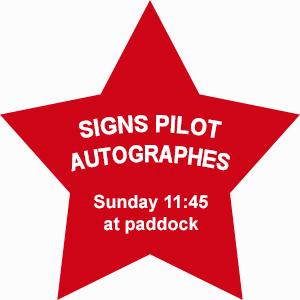 Sunday 11:45 at paddock